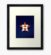 Houston Astros blue Framed Print