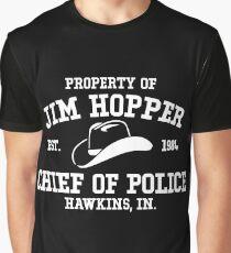 Jim Hopper - Stranger Things Graphic T-Shirt