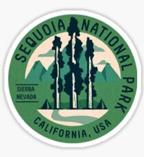 Sequoia National Park Vintage Travel Decal Patch Sticker