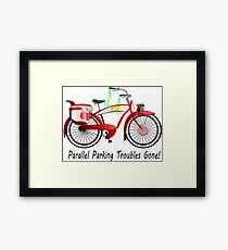 Parallel Parking Troubles Gone Bicycle Framed Print