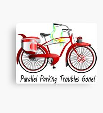 Parallel Parking Troubles Gone Bicycle Canvas Print