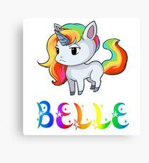Belle Unicorn Canvas Print