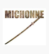 Michonne, Her Sword, It's Blood Photographic Print