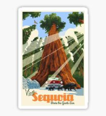 Sequoia National Park Vintage Retro Travel Decal Sticker Sticker