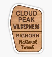 Cloud Peak Wilderness, Bighorn National Forest Sticker