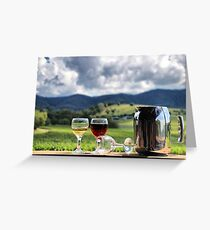 White port and red wine Greeting Card