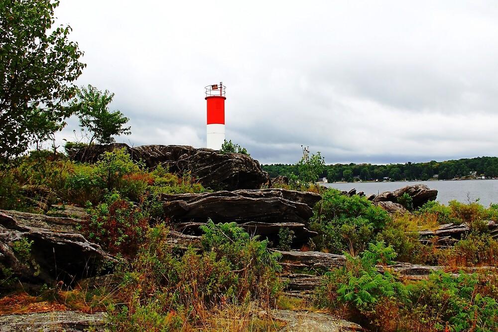 Georgian Bay Lighthouse At Killbear by Debbie Oppermann