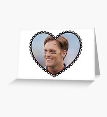 Patriots Tom Brady Heart Greeting Card