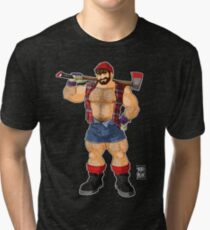 ADAM LIKES LUMBERJACKS Tri-blend T-Shirt