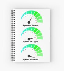 Speed of Smell is fastest Spiral Notebook