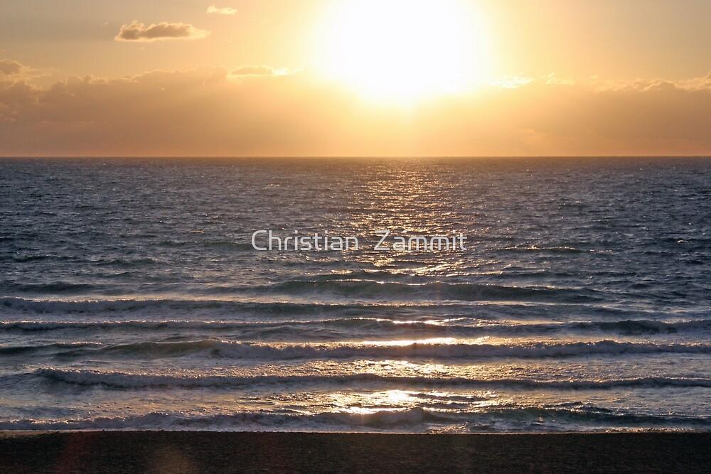 Calm waves by Christian  Zammit