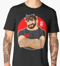 ADAM LIKES CROSSING ARMS Men's Premium T-Shirt