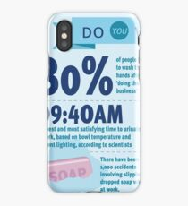 Wee at Work Infographic  iPhone Case