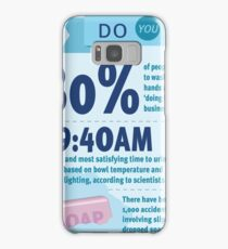 Wee at Work Infographic  Samsung Galaxy Case/Skin