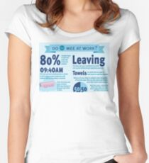 Wee at Work Infographic  Women's Fitted Scoop T-Shirt