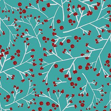 Retro Winterberries by Nettieliz