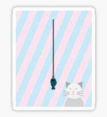 cat fishing soya sauce Sticker