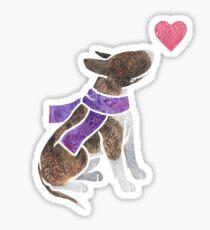 Watercolour Bull Terrier Sticker