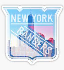 New York Rangers Logo with City Skyline Sticker