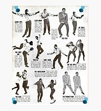 Swing Dance Instructional Pictorial Photographic Print