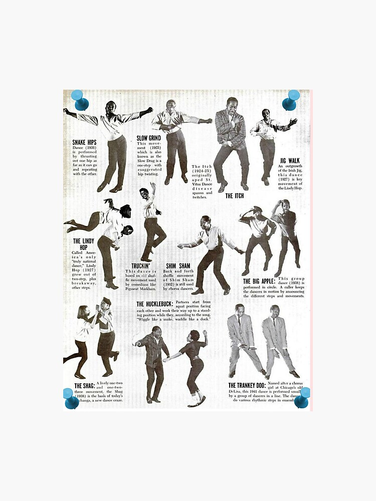 Swing Dance Instructional Pictorial | Photographic Print