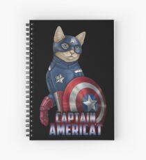 Captain Americat Spiral Notebook