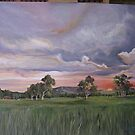 Sunset in the valley by Ken Tregoning