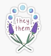 they them pronouns Sticker