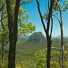 Glasshouse Mountains by Werner Padarin