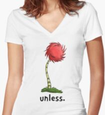 unless. Women's Fitted V-Neck T-Shirt
