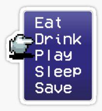 Final Fantasy rpg menu  Sticker