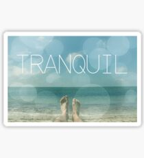 tranquil  Sticker