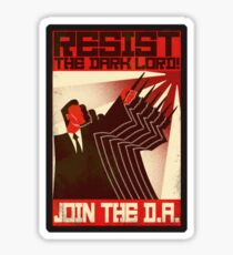 Resist the Dark Lord. Join the D.A. Sticker
