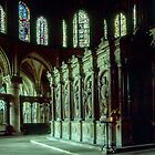 Tomb of St Remis 852 Restored 1557 C17 St Remis, Reims France 19840823 0072  by Fred Mitchell