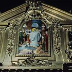 Tomb of St Remis with baptism St Remis Reims France 19840823 0073  by Fred Mitchell