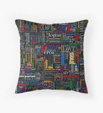 Jungian Psychology Word Cloud Throw Pillow