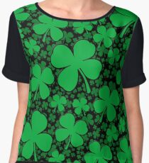 A Shamrock Field for St Patrick's Day Chiffon Top