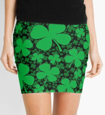 A Shamrock Field for St Patrick's Day Mini Skirt