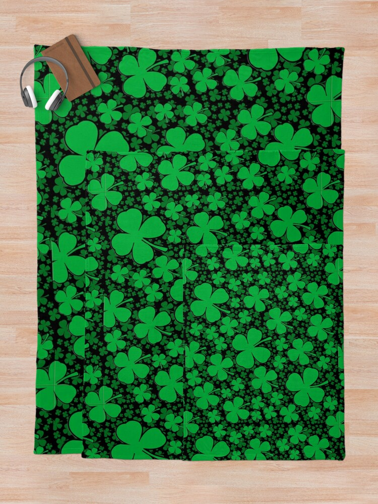 Alternate view of A Shamrock Field for St Patrick's Day Throw Blanket