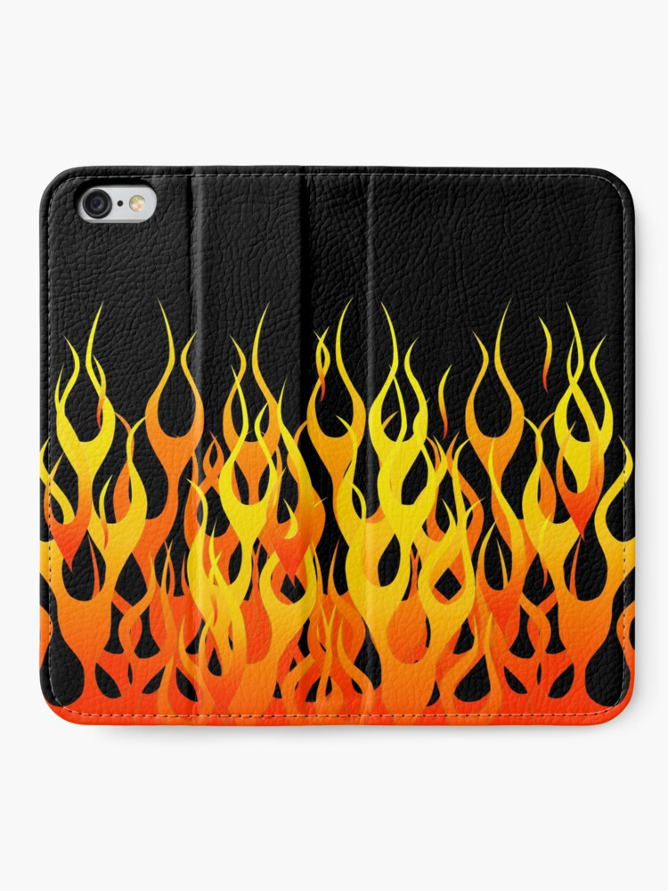 Alternate view of Racing Flames iPhone Wallet