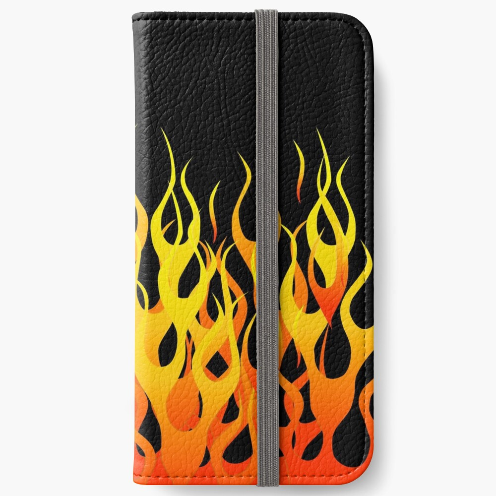 Racing Flames iPhone Wallet