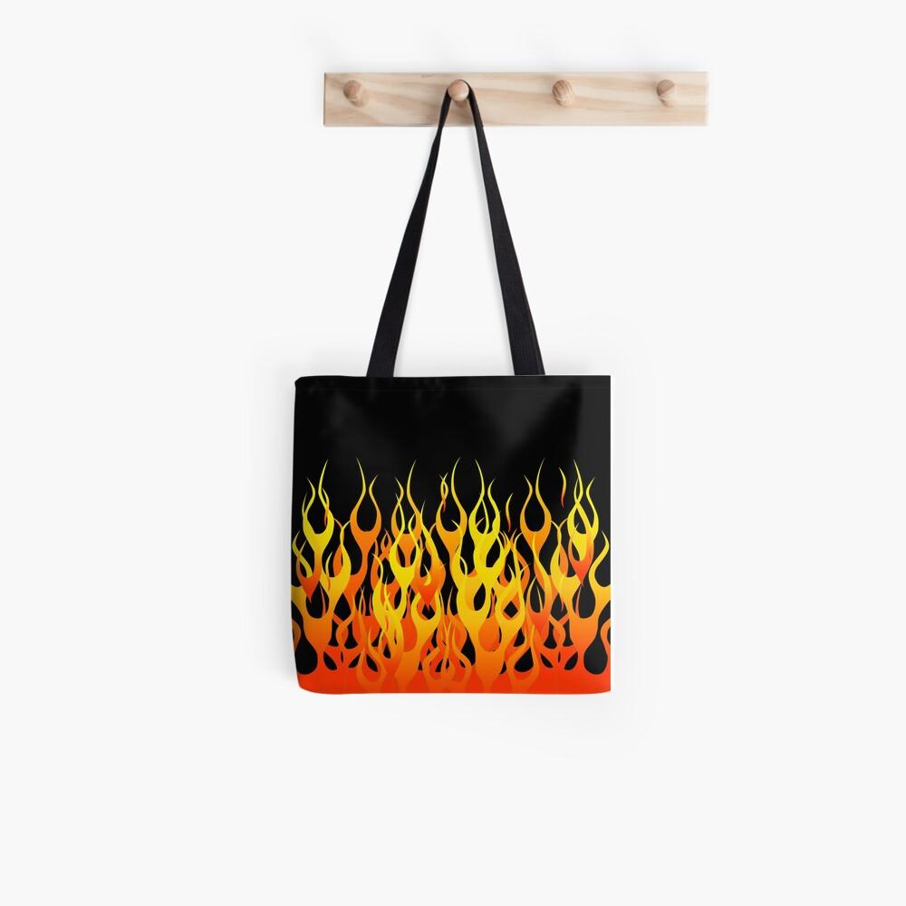 Racing Flames Tote Bag