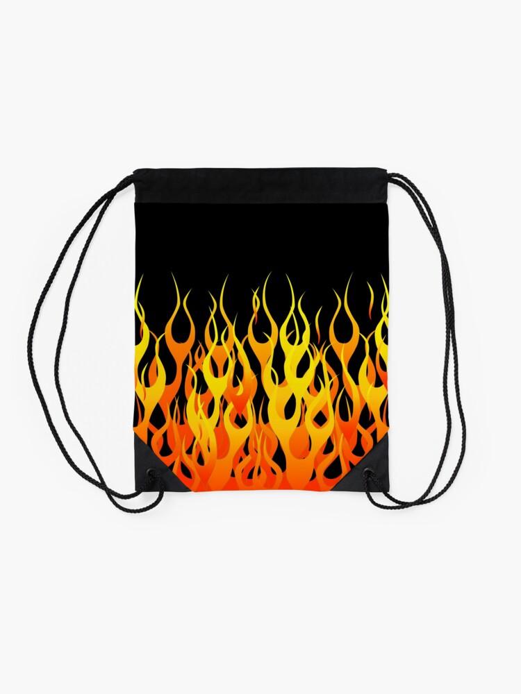 Alternate view of Racing Flames Drawstring Bag