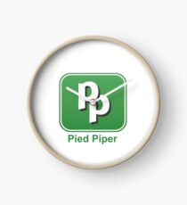 Pied Piper - Silicon Valley - Fan Start Up App Clock