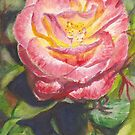 Rose Greeting Card by Dai Wynn