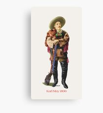 Karl May in Old Shatterhand Costume 1896 by tasmanianartist for Karl May Friends Canvas Print