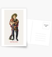 Karl May in Old Shatterhand Costume 1896 by tasmanianartist for Karl May Friends Postcards