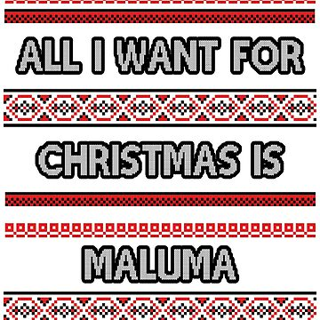 Ugly Christmas Sweater - Maluma by amandamedeiros
