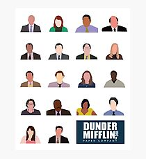 Lámina fotográfica Dunder Mifflin Rolecall!
