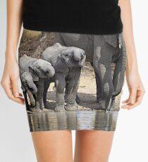 Elephant Mom and Babies Mini Skirt